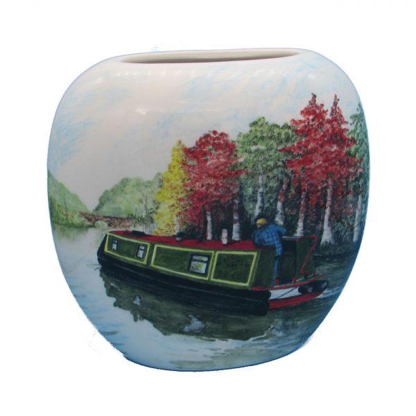 Personalise Autumn Cruising Design Vase Tony Cartlidge