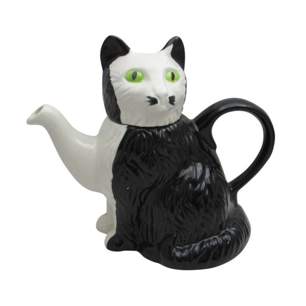 Black and White Cat Teapot by Carters of Suffolk