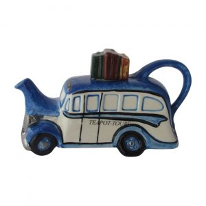 Coach Collectable Novelty Teapot Blue Colour Way