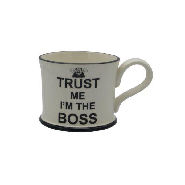 Moorland Pottery Mug Trust Me I'm The Boss