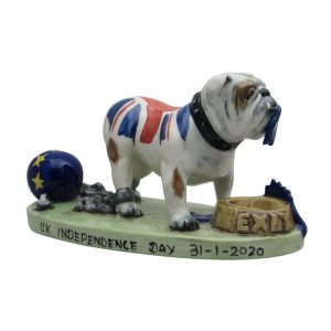 Brexit Bulldog Figure by Bairstow Pottery Collectables