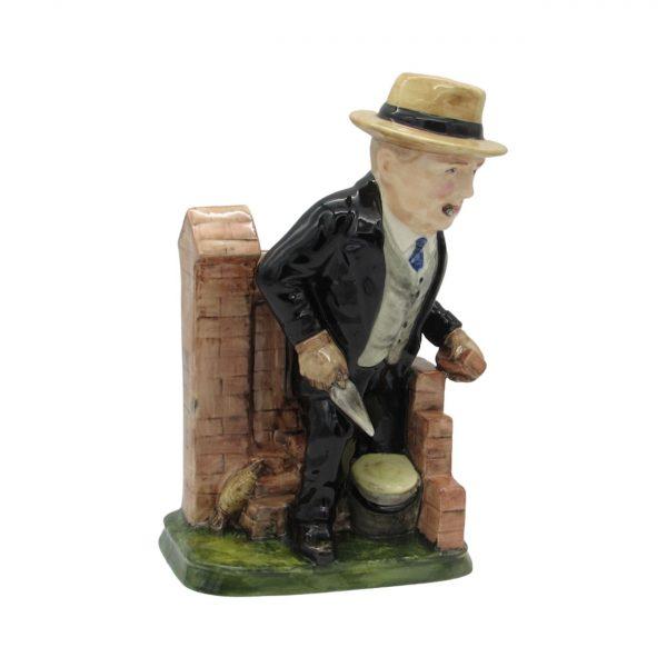 Winston Churchill Bricklayer Figure Bairstow Pottery