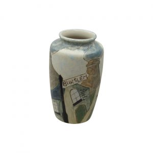 Burslem Pottery Stoneware Vase Burslem Design