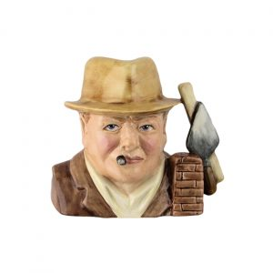 Churchill Bricklayer Design Toby Jug Bairstow Pottery
