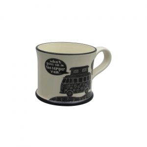 Moorland Pottery Mug What Goes on in the Camper Van
