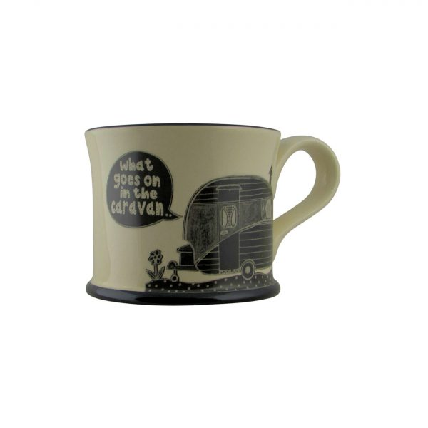 Moorland Pottery What Goes on in the Caravan Mug