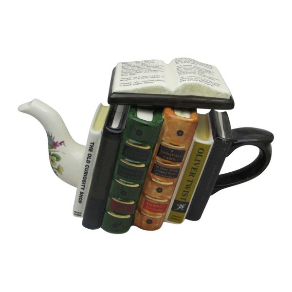 Charles Dickens Books Teapot by Carters of Suffolk