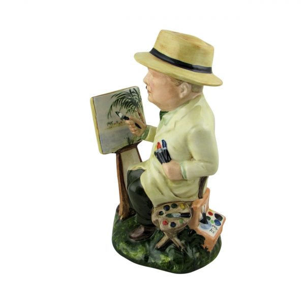 Winston Churchill Artist Figure Bairstow Pottery
