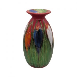 Crocus Design 21cm Vase Anita Harris Art Pottery