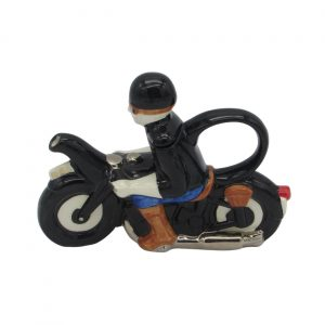 Motor Cyclist Teapot Two Cup Carters of Suffolk