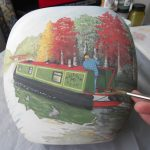 Personalised Canal Boat Gifts | Hand Painted Vases