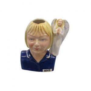Nurse Toby Jug Female Blonde Hair Angel Handle Bairstow Pottery