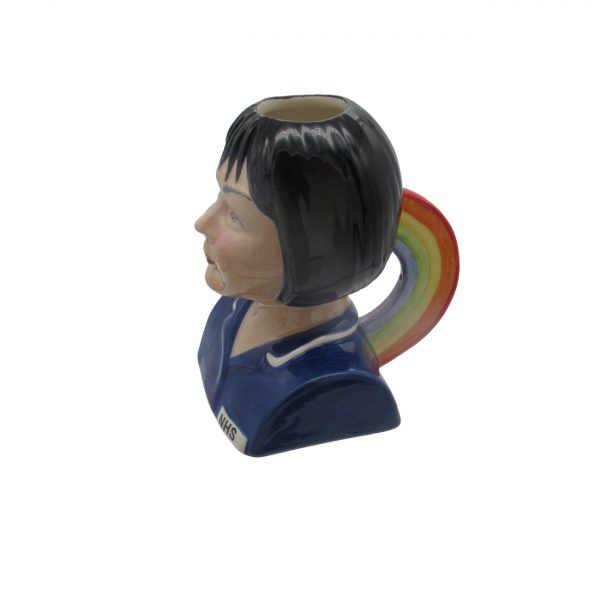 Female Nurse Toby Jug Black Hair Rainbow Handle Bairstow Pottery