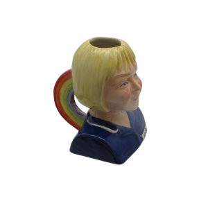 Female Nurse Toby Jug Blonde Hair Rainbow Handle Bairstow Pottery