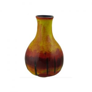 Flame Design Bulbous Vase by Anita Harris Art Pottery