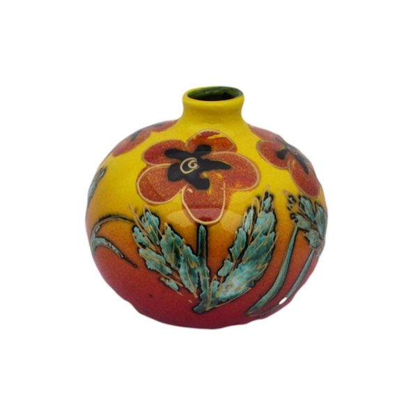 Floral Design 10cm Vase Anita Harris Art Pottery