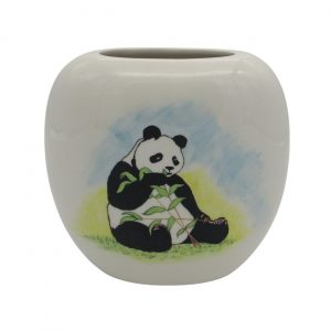 Giant Panda Design Vase by Tony Cartlidge Ceramic Artist