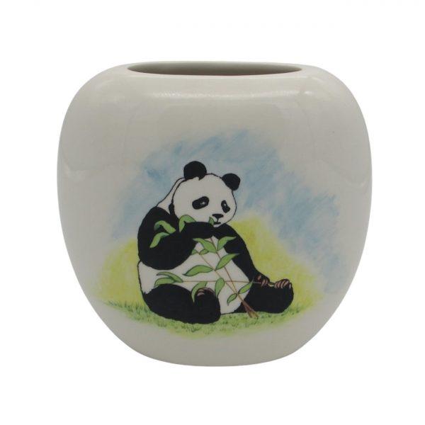 Giant Panda Design Vase by Tony Cartlidge Ceramic Artist