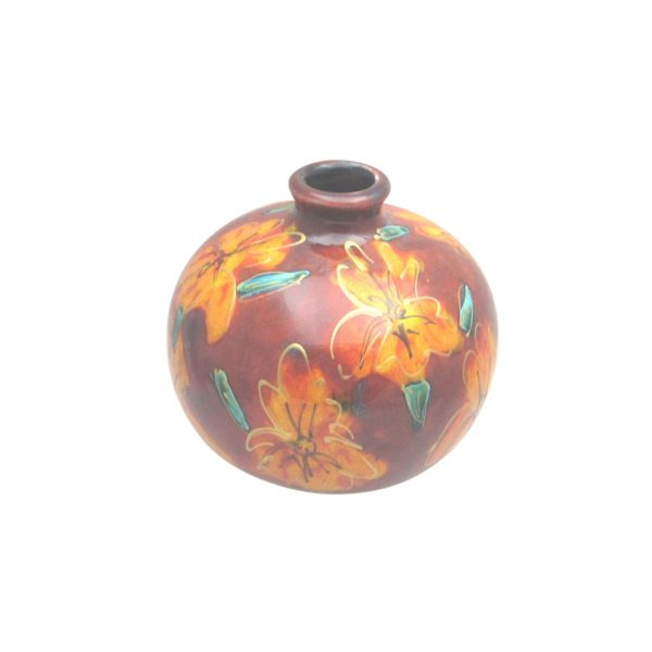 Golden Iris Design 10cm Vase Anita Harris Art Pottery
