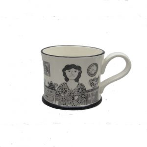 Grumpy Old Woman Mug by Moorland Pottery