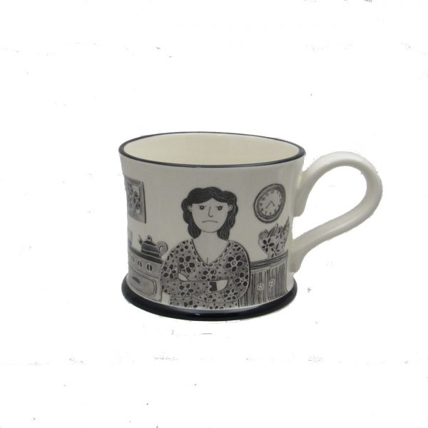 Grumpy Old Woman Mug by Moorland Pottery