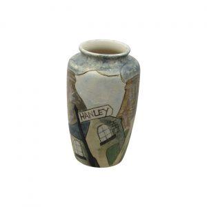 Burslem Pottery Stoneware Vase Hanley Design