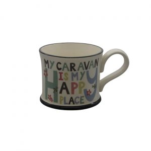 Happy Caravan Mug Moorland Pottery