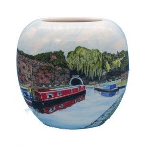 Personalise Harecastle Tunnel Design Vase Tony Cartlidge