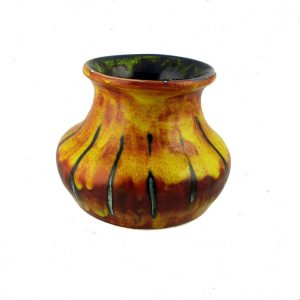 Flame Design Small Vase by Anita Harris Art Pottery