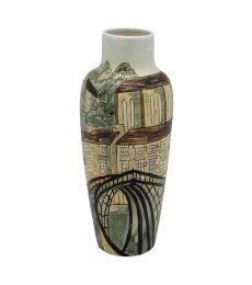 Ironbridge Industrial Design Vase Burslem Pottery