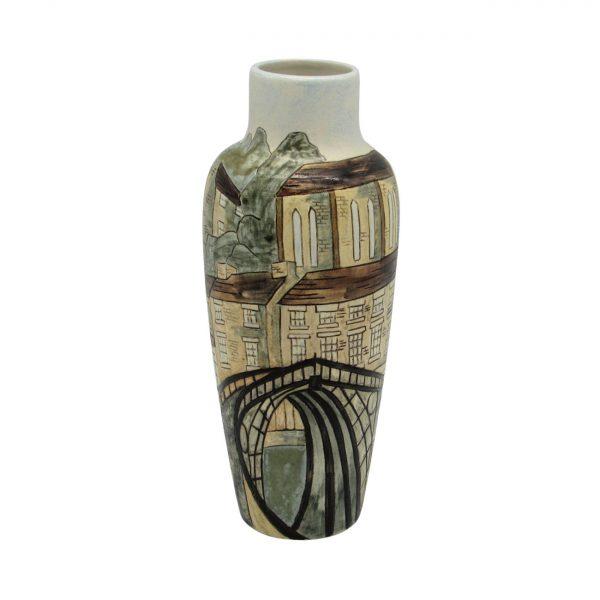 Ironbridge Industrial Heritage Stoneware Design Vase Burslem Pottery