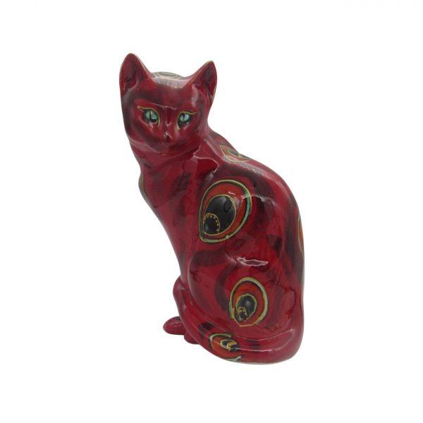 Large Sitting Cat Abstract Design Anita Harris Art Pottery