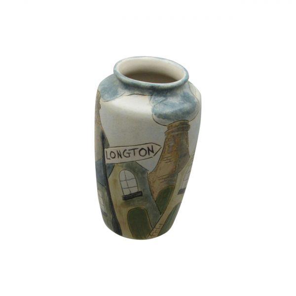 Burslem Pottery Stoneware Vase Longton Design