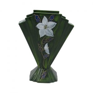 Christmas Rose Large Fan Vase Anita Harris Art Pottery
