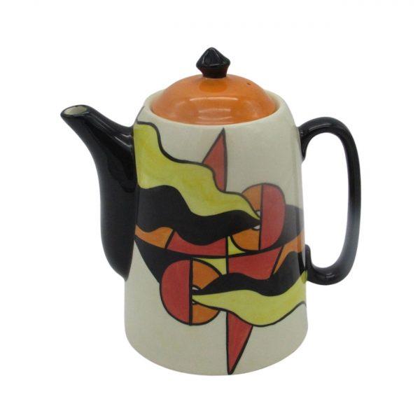 Mirage Design Coffee Pot by Lorna Bailey Artware