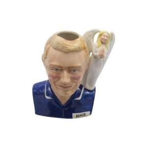 Male Nurse Toby Jug Blonde Hair Angel Handle Bairstow Pottery