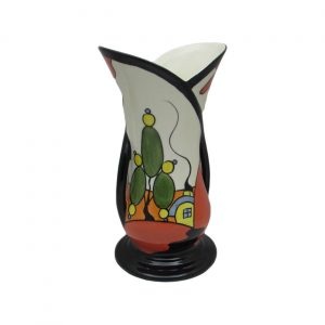 Marshland Cottage Design Two Handle Vase by Lorna Bailey.