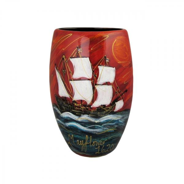 Mayflower Design 16cm Vase Anita Harris Art Pottery