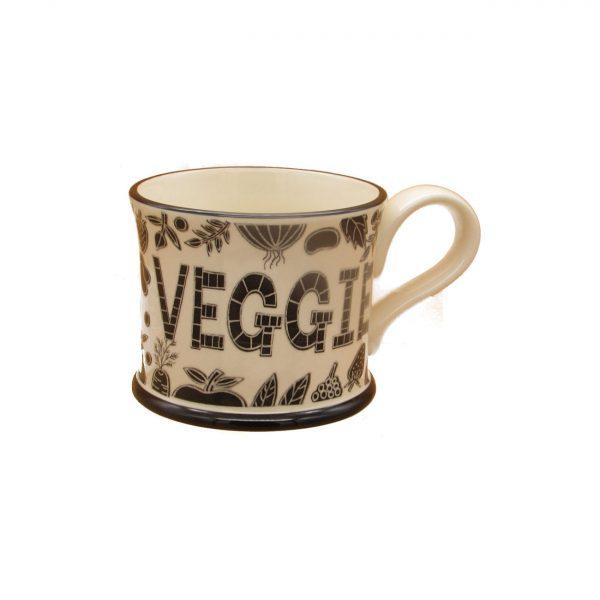 Trust me I'm Veggie Design Mug Moorland Pottery