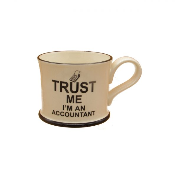 Trust Me I'm An Accountant Design Mug Moorland Pottery