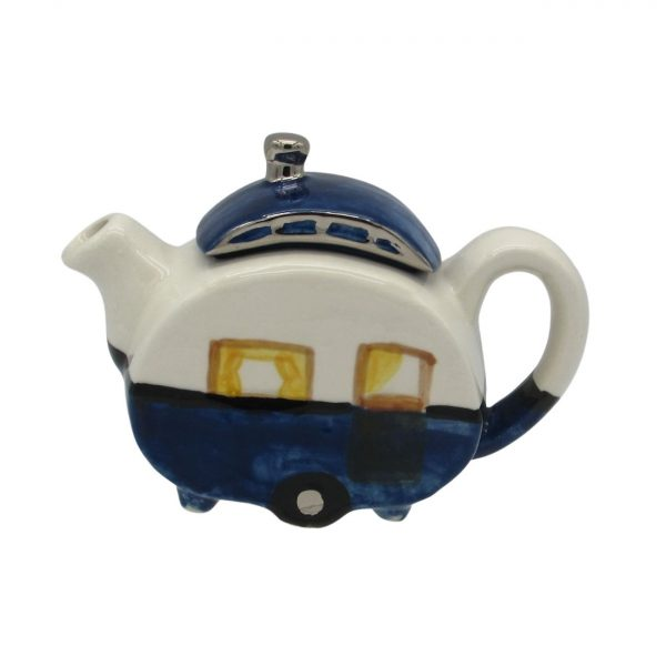 One Cup Caravan Teapot Blue Colourway Carters of Suffolk.