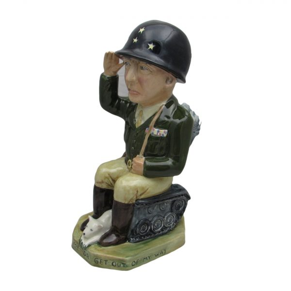 General George Patton Toby Jug Bairstow Pottery