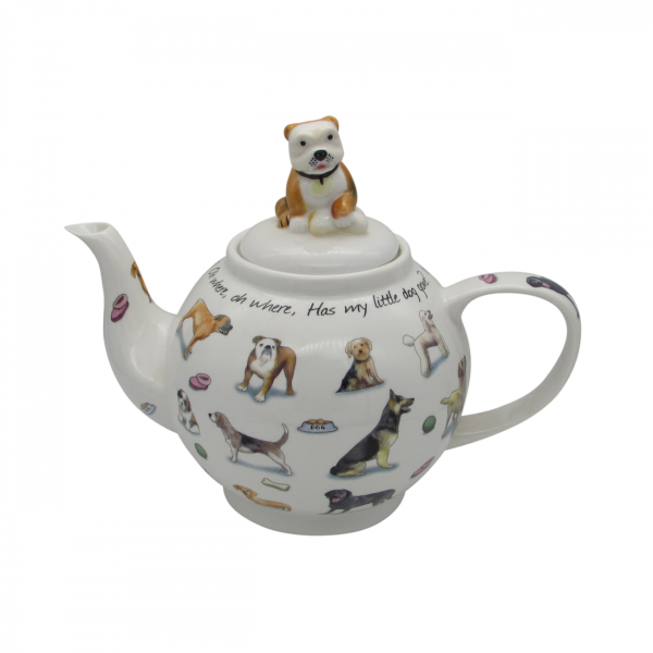 Man's Best Friend 6 Cup Teapot Paul Cardew Designs.
