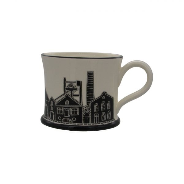 Pit Head Design Mug by Moorland Pottery