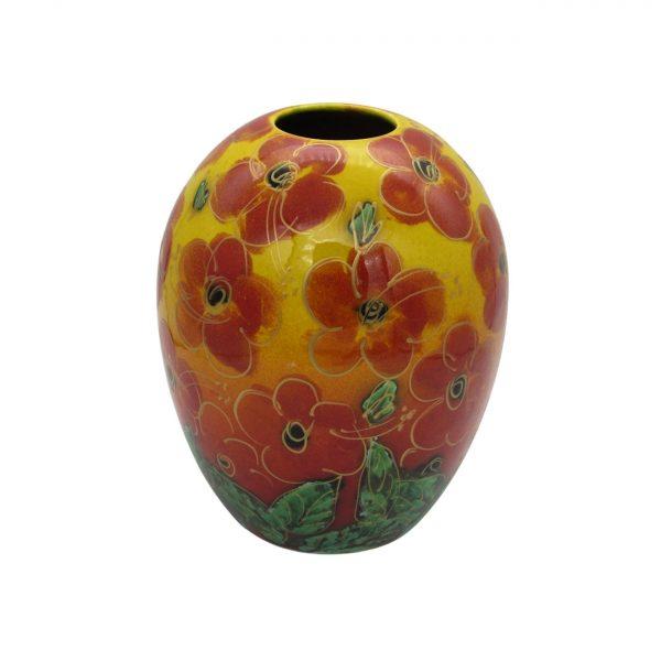 Red Hibiscus 15cm Vase Anita Harris Art Pottery
