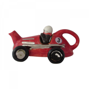 Racing Car One Cup Teapot Red Carters of Suffolk