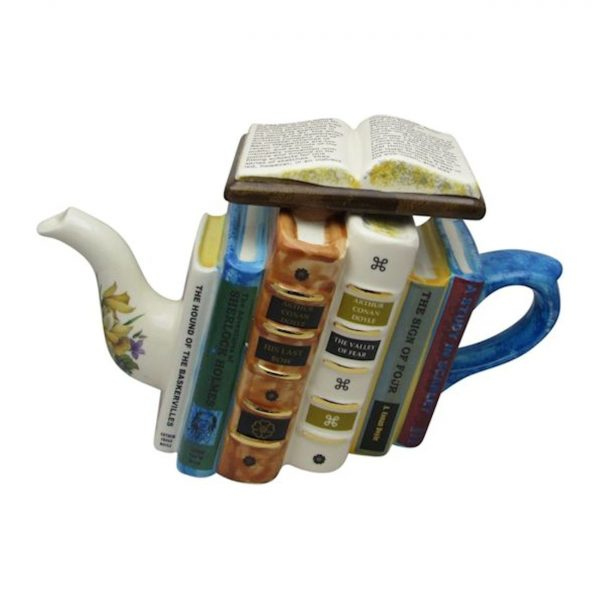 Sherlock Holmes Books Large Teapot Carters of Suffolk