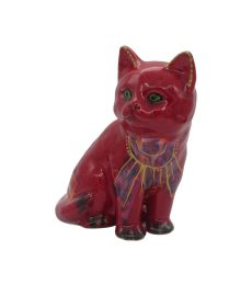 Sitting Kitten Art Deco Style Design Anita Harris Art Pottery