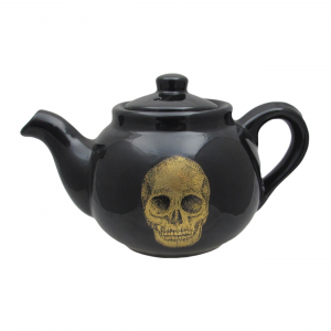 Skull Design Round Teapot by Carters of Suffolk