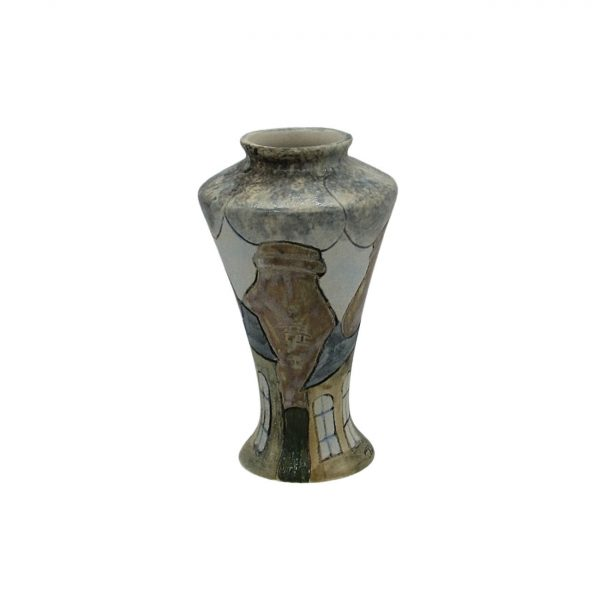 Smokie Potbank Design Vase Burslem Pottery